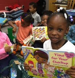 Book Giveaway at Brookdale Elementary School in Macon