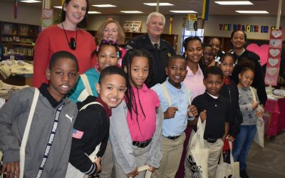 Book Giveaway at Bernd Elementary on Valentine's Day